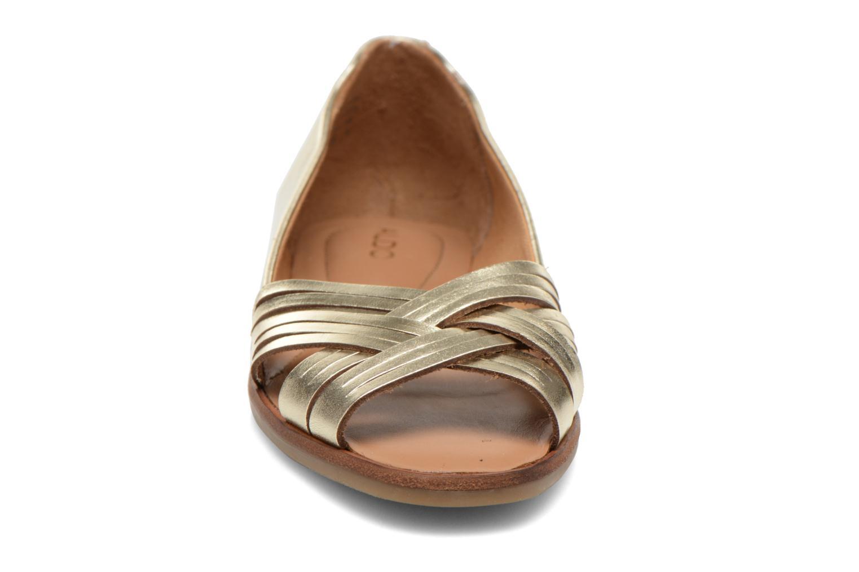 Ballerines Aldo Freddana Or et bronze vue portées chaussures
