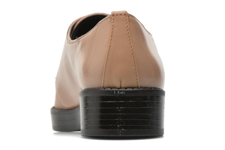 Zapatos con cordones Aldo Monnacco Beige vista lateral derecha