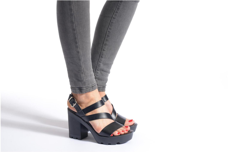 Sandales et nu-pieds Aldo Briody Noir vue bas / vue portée sac