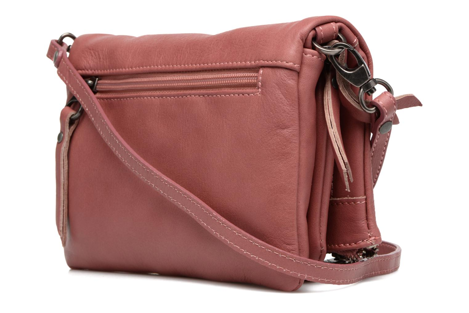 Clutch bags Sabrina Leontine Pink view from the right