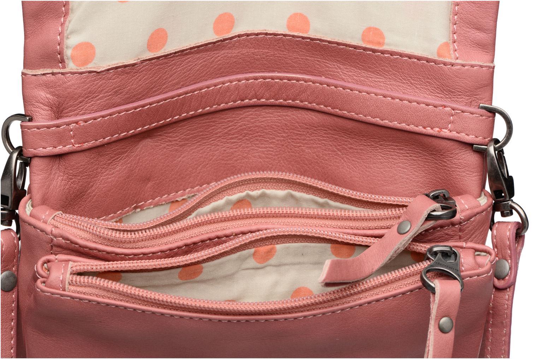 Clutch bags Sabrina Leontine Pink back view