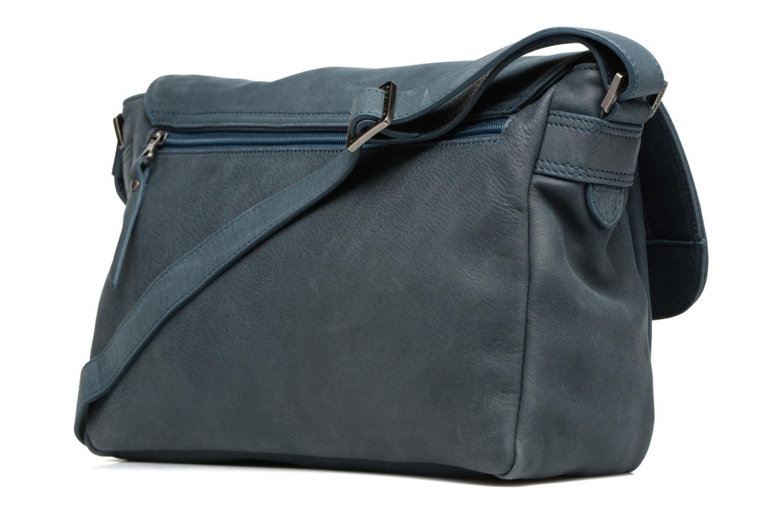 Handtaschen Sabrina Victoria blau ansicht von rechts