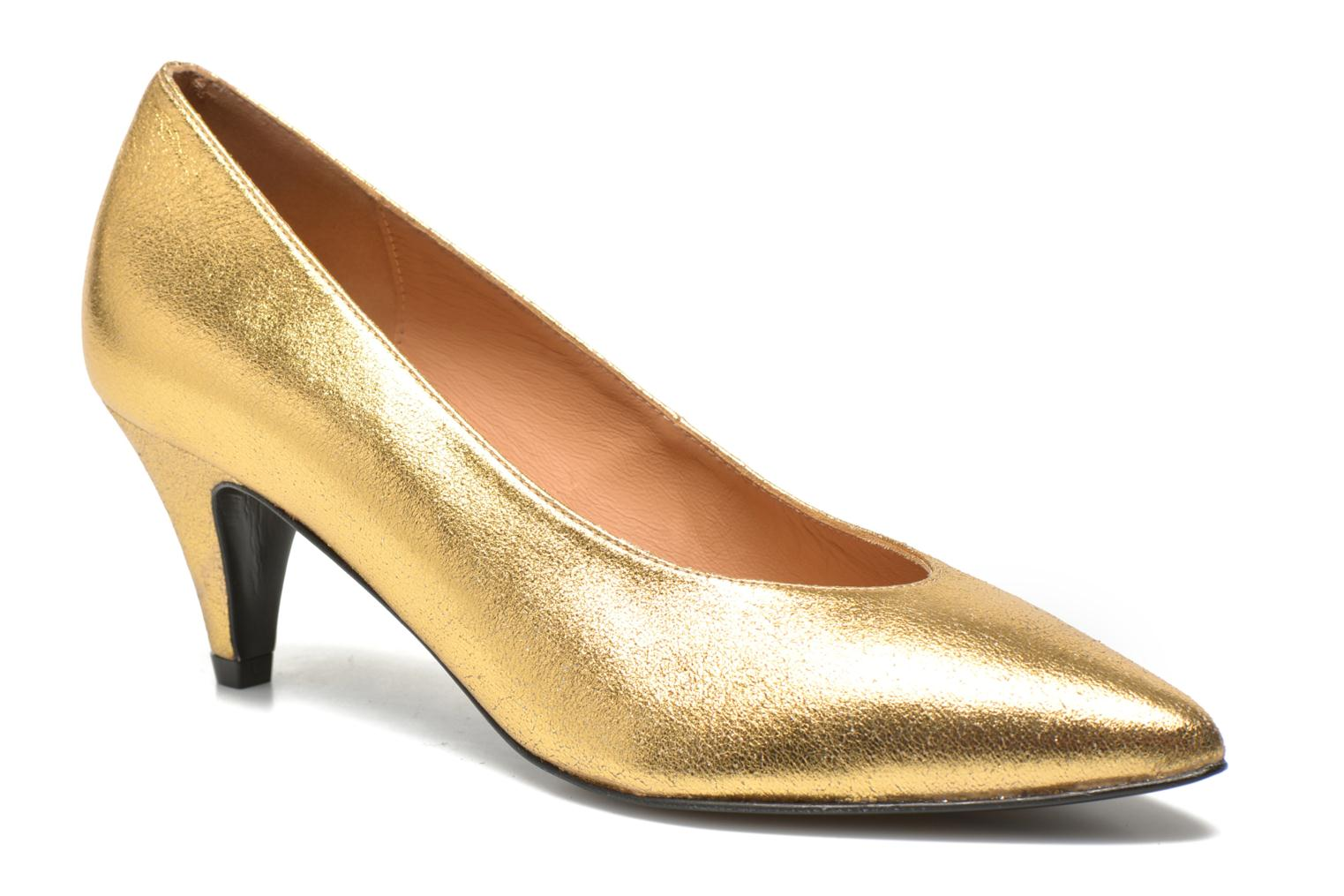High heels Made by SARENZA Glossy Cindy #9 Bronze and Gold front view