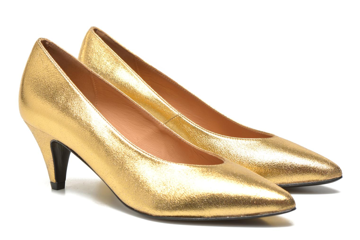 High heels Made by SARENZA Glossy Cindy #9 Bronze and Gold view from the right