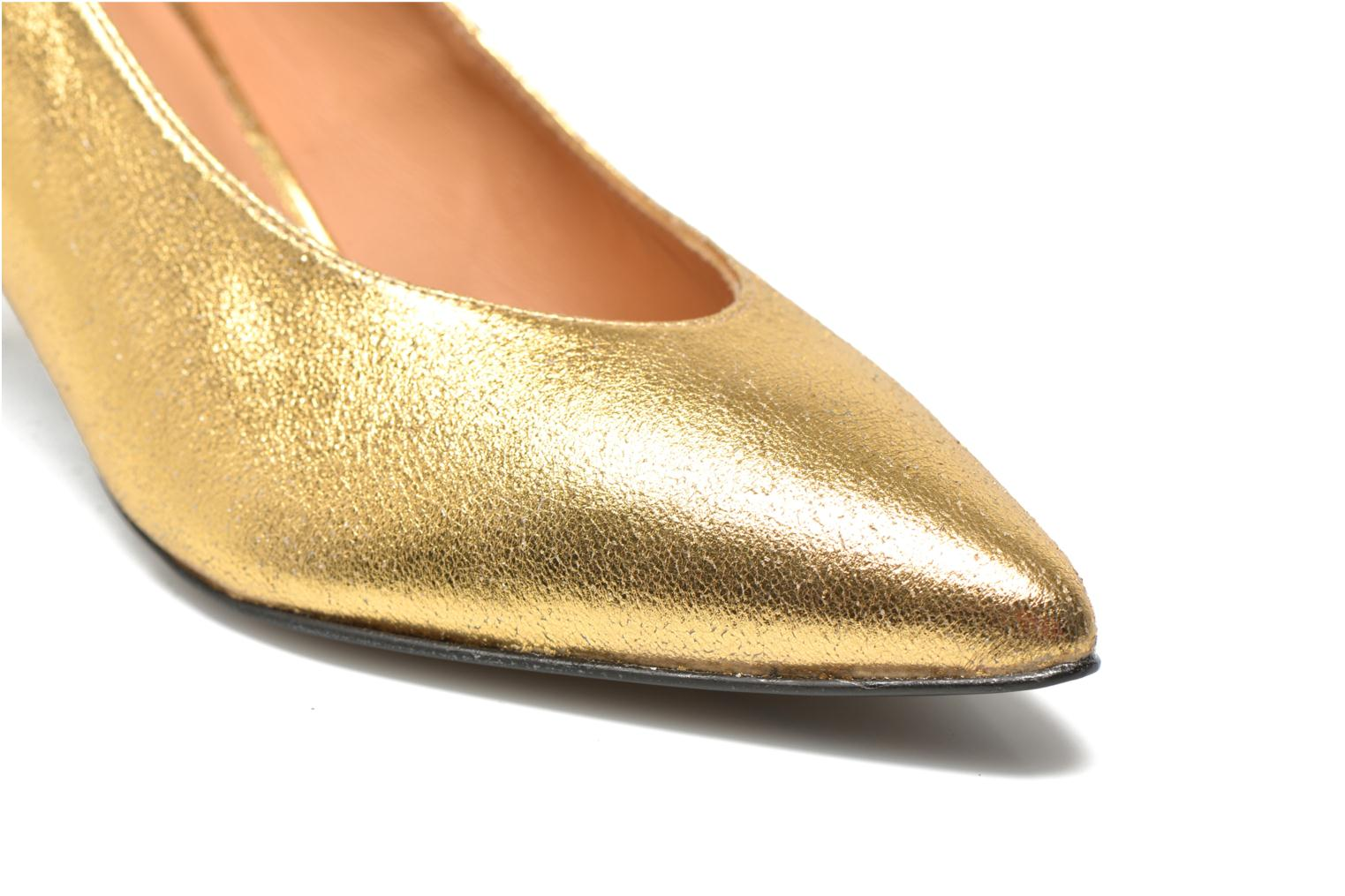 High heels Made by SARENZA Glossy Cindy #9 Bronze and Gold back view