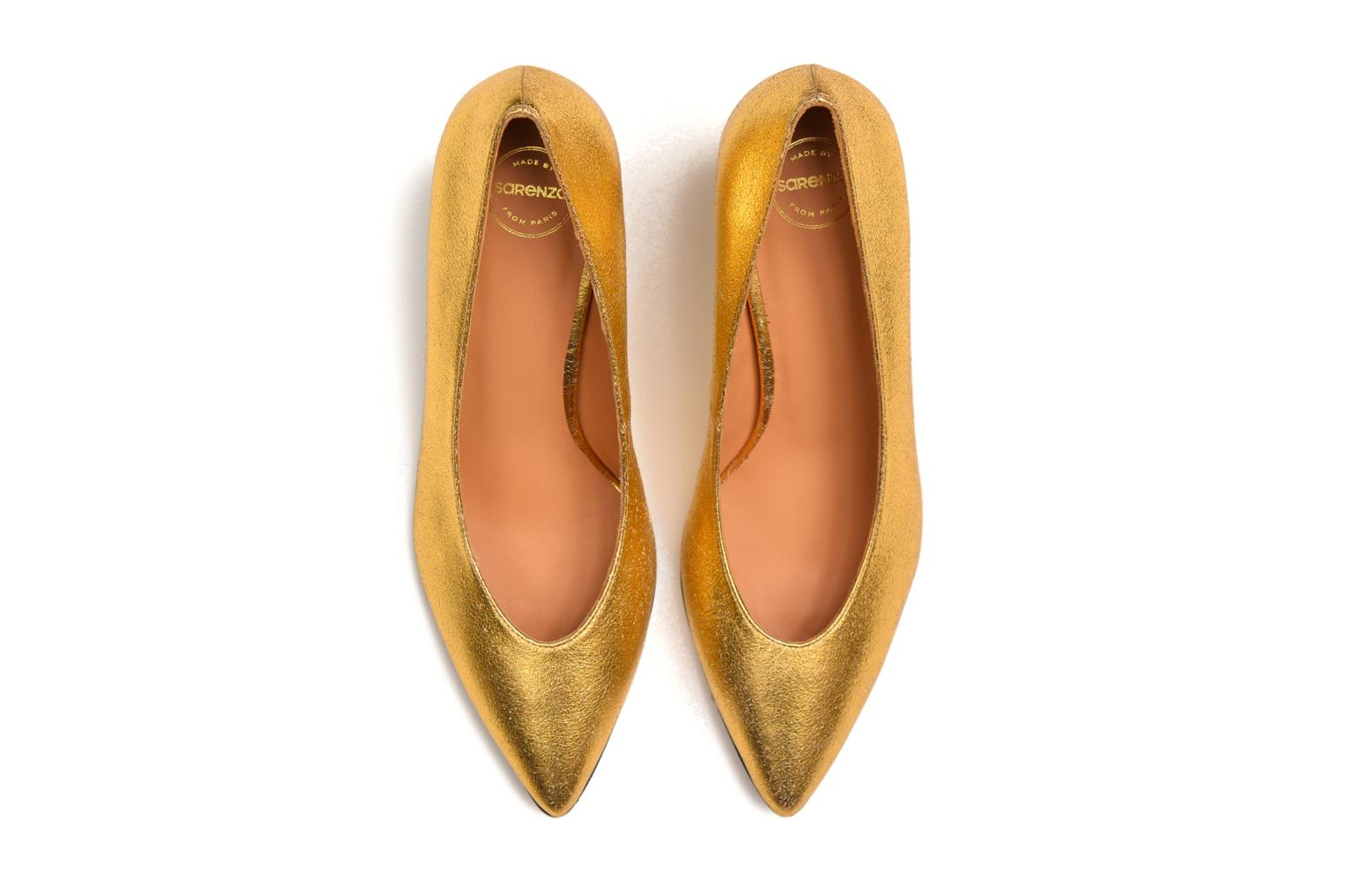 High heels Made by SARENZA Glossy Cindy #9 Bronze and Gold view from above