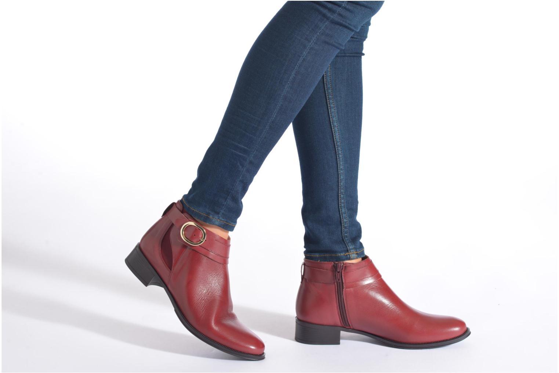 Bottines et boots Georgia Rose Eperdreau Bordeaux vue bas / vue portée sac