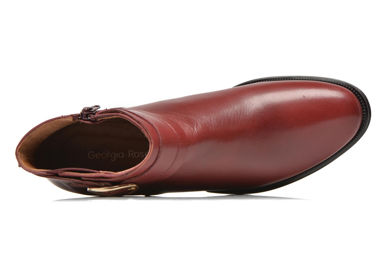 Bottines et boots Georgia Rose Eperdreau Bordeaux vue gauche