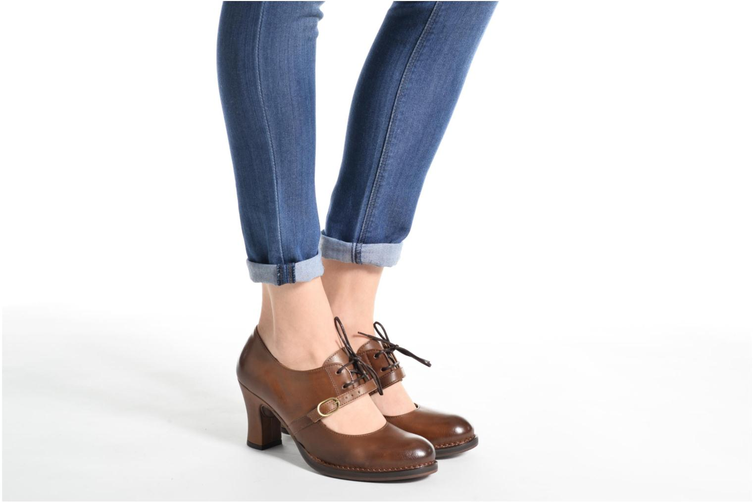 High heels Neosens Baladi 267 Brown view from underneath / model view