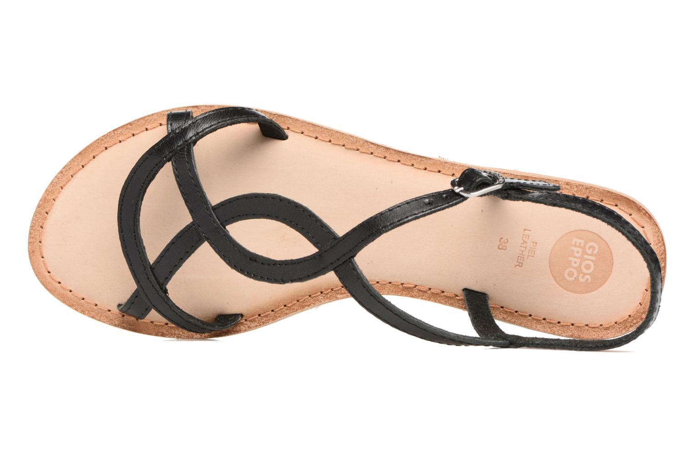 Sandales et nu-pieds Gioseppo Silva Noir vue gauche