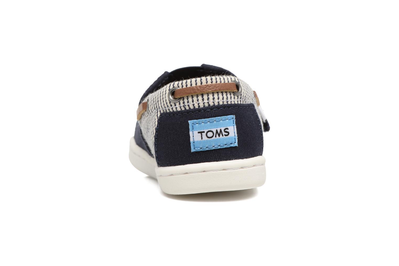 Baskets TOMS Bimini Espadrille Bleu vue droite