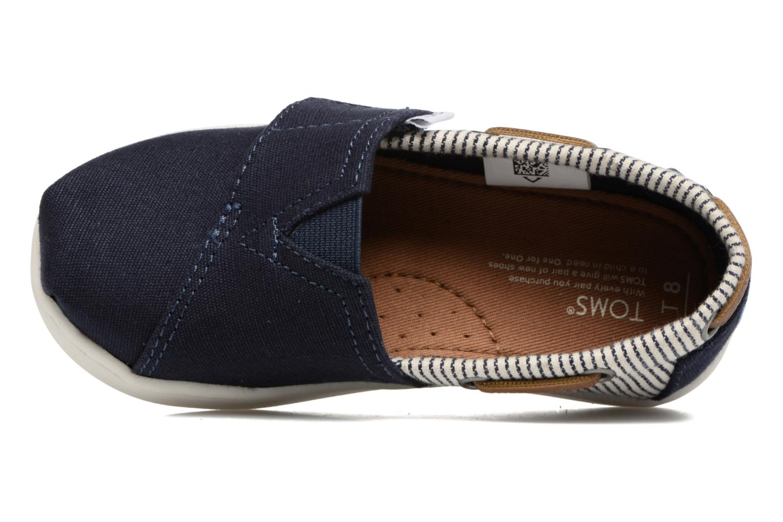 Baskets TOMS Bimini Espadrille Bleu vue gauche