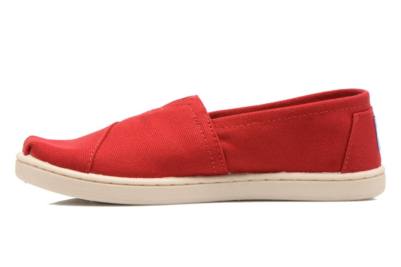 Baskets TOMS Canvas Classics Rouge vue face
