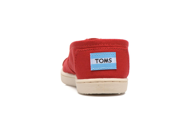 Sneaker TOMS Canvas Classics rot ansicht von rechts