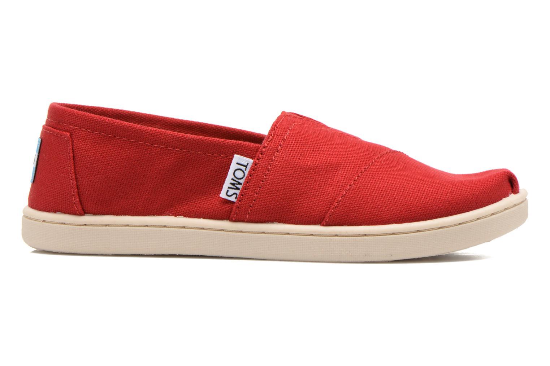 Sneaker TOMS Canvas Classics rot ansicht von hinten