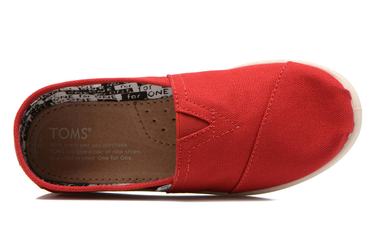 Baskets TOMS Canvas Classics Rouge vue gauche