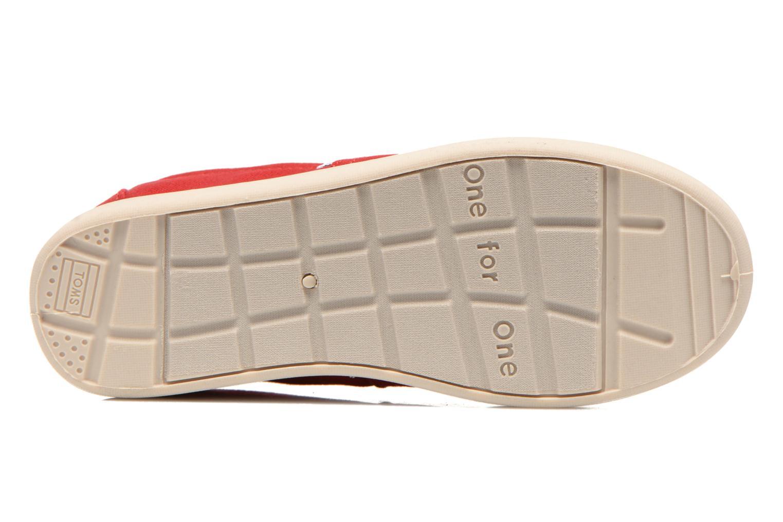 Sneaker TOMS Canvas Classics rot ansicht von oben