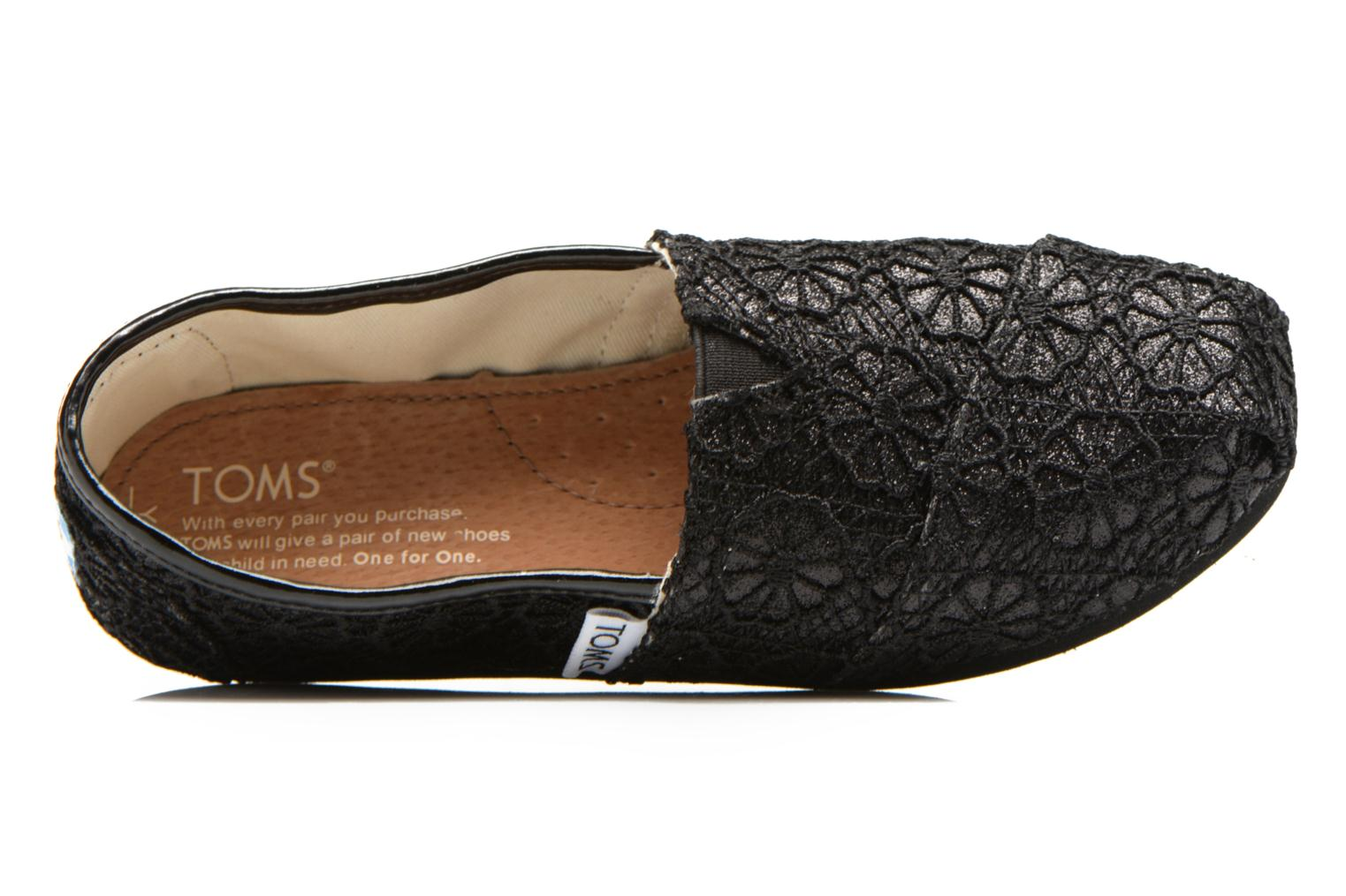 Trainers TOMS Seasonal Classics Black view from the left