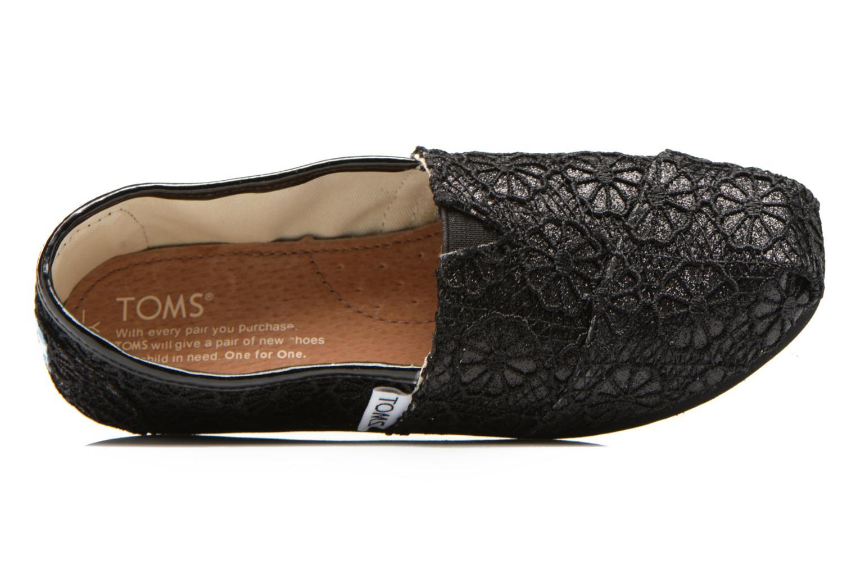Sneaker TOMS Seasonal Classics schwarz ansicht von links