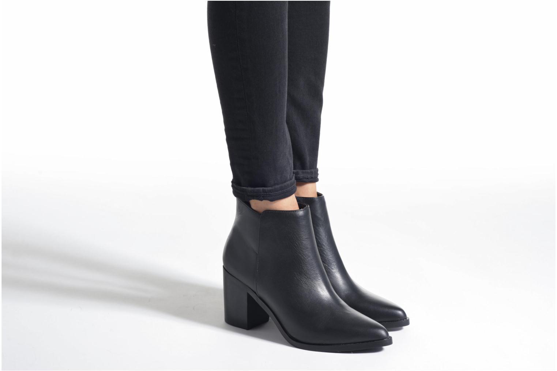 Bottines et boots Buffalo Tida Bordeaux vue bas / vue portée sac