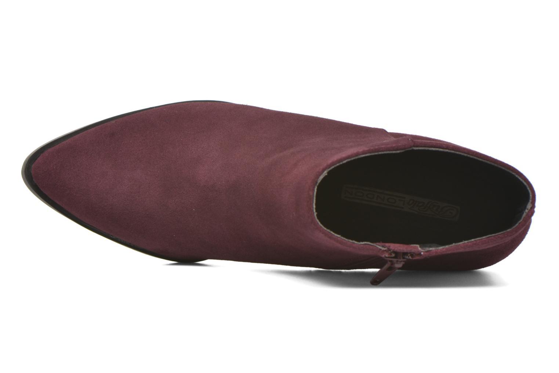 Bottines et boots Buffalo Tida Bordeaux vue gauche
