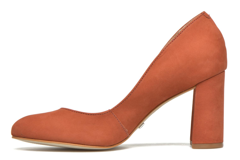 High heels Buffalo Qilda Brown front view