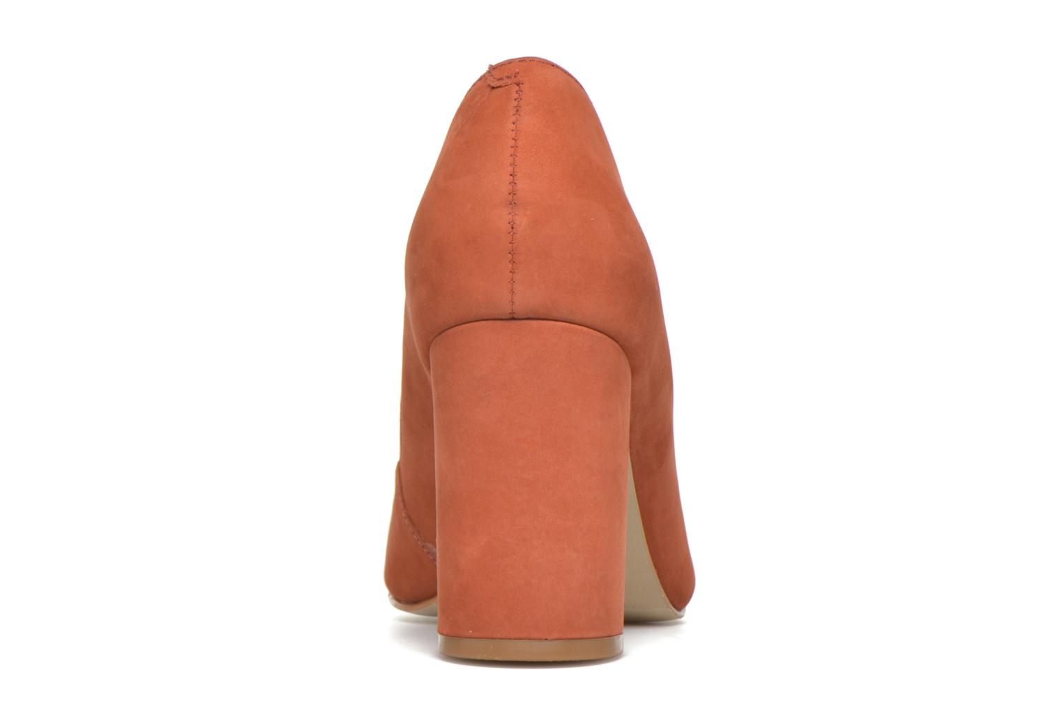 High heels Buffalo Qilda Brown view from the right