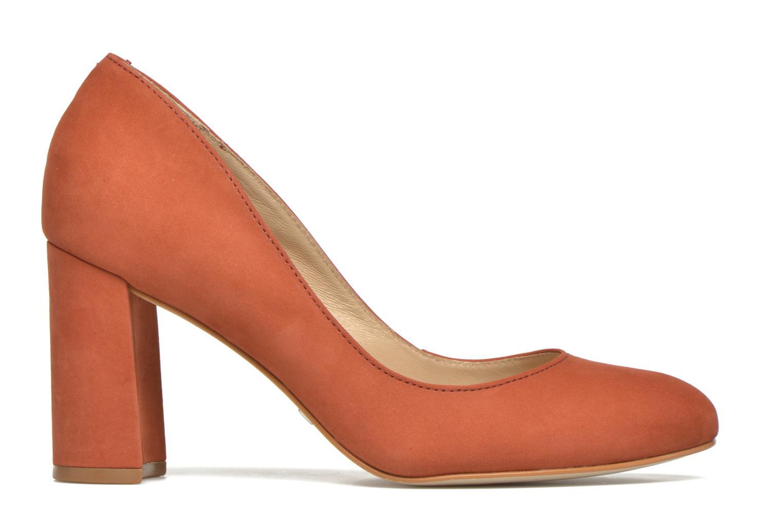 High heels Buffalo Qilda Brown back view
