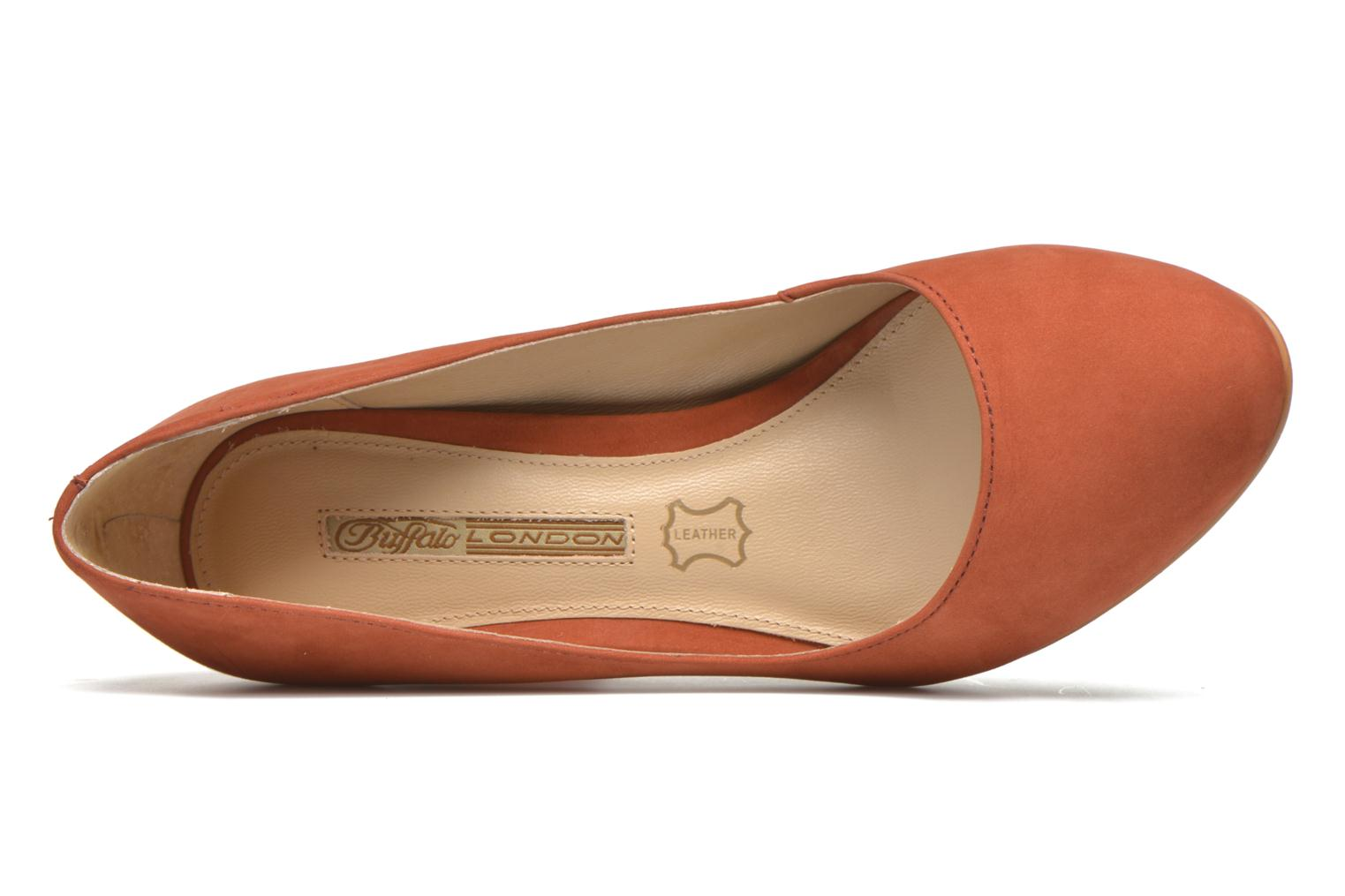 High heels Buffalo Qilda Brown view from the left
