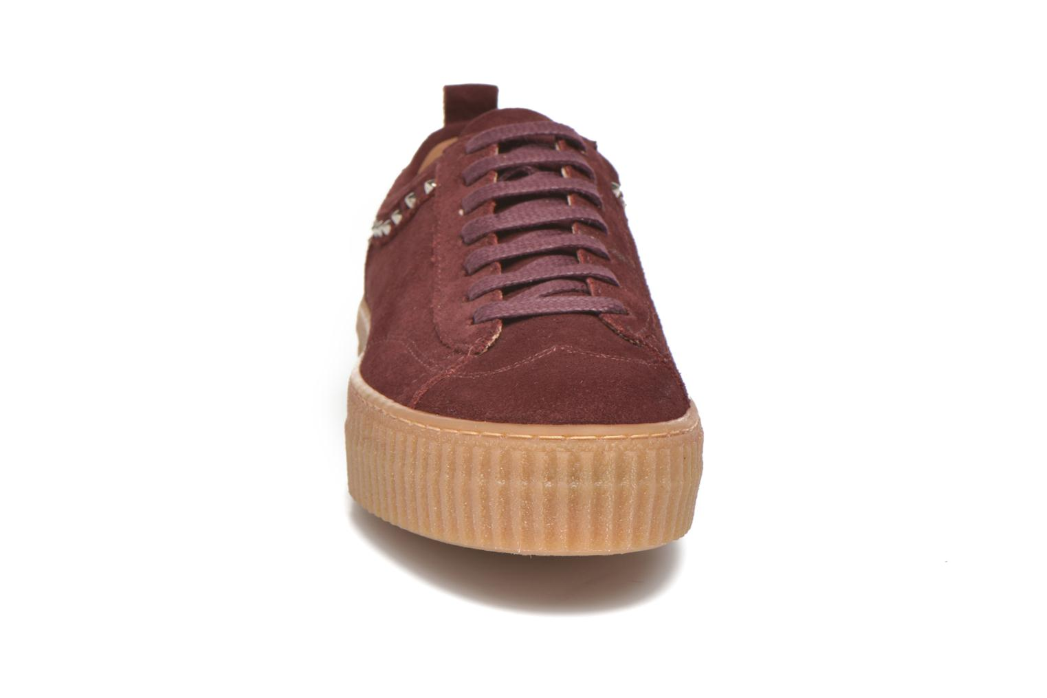 Trainers Bronx TraiX Suede Burgundy model view