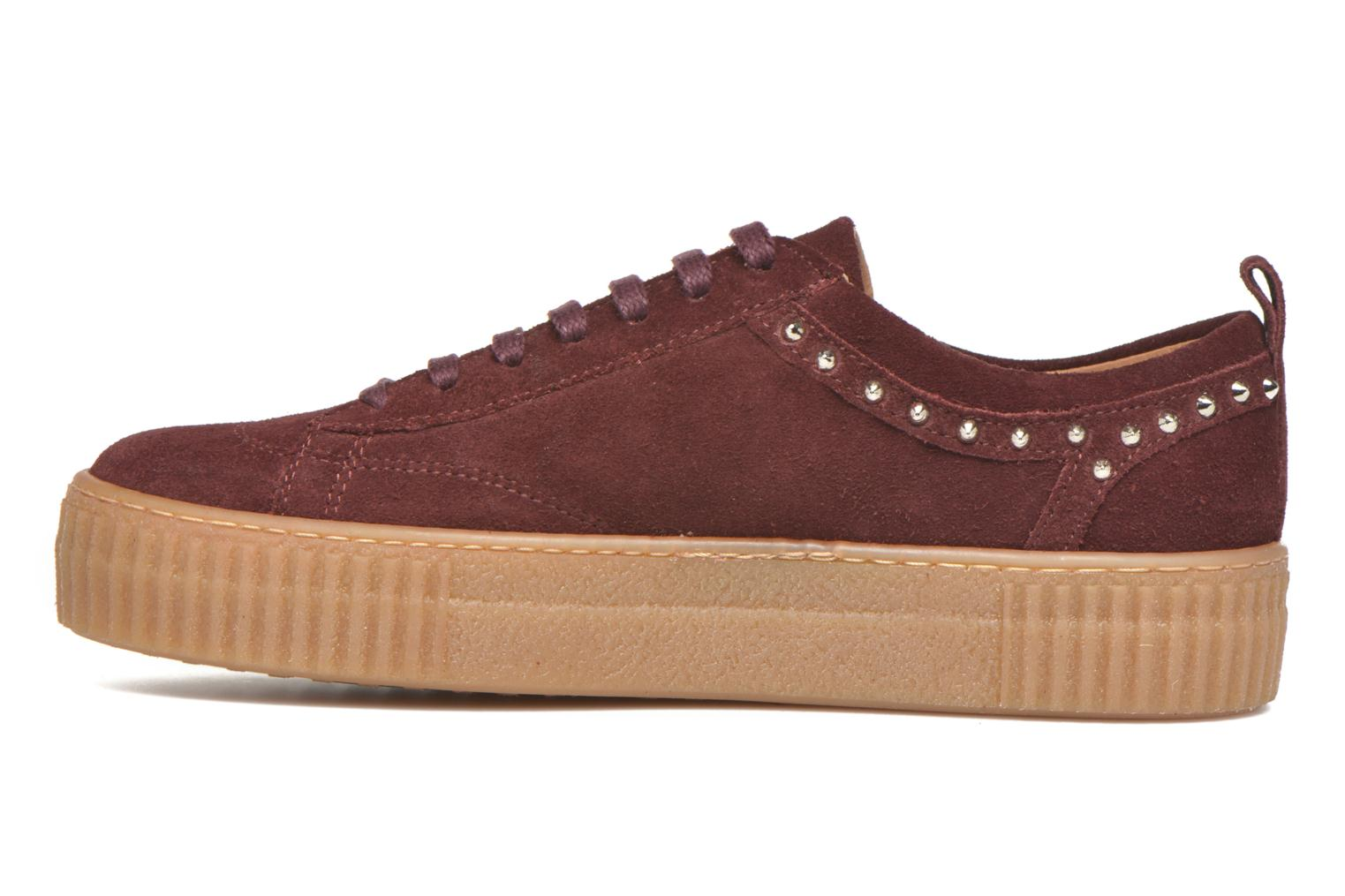 Trainers Bronx TraiX Suede Burgundy front view
