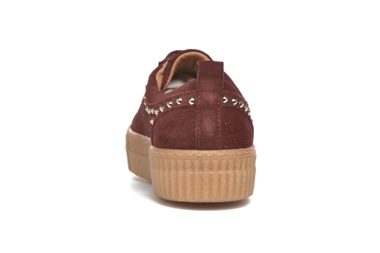 Sneakers Bronx TraiX Suede Bordeaux rechts