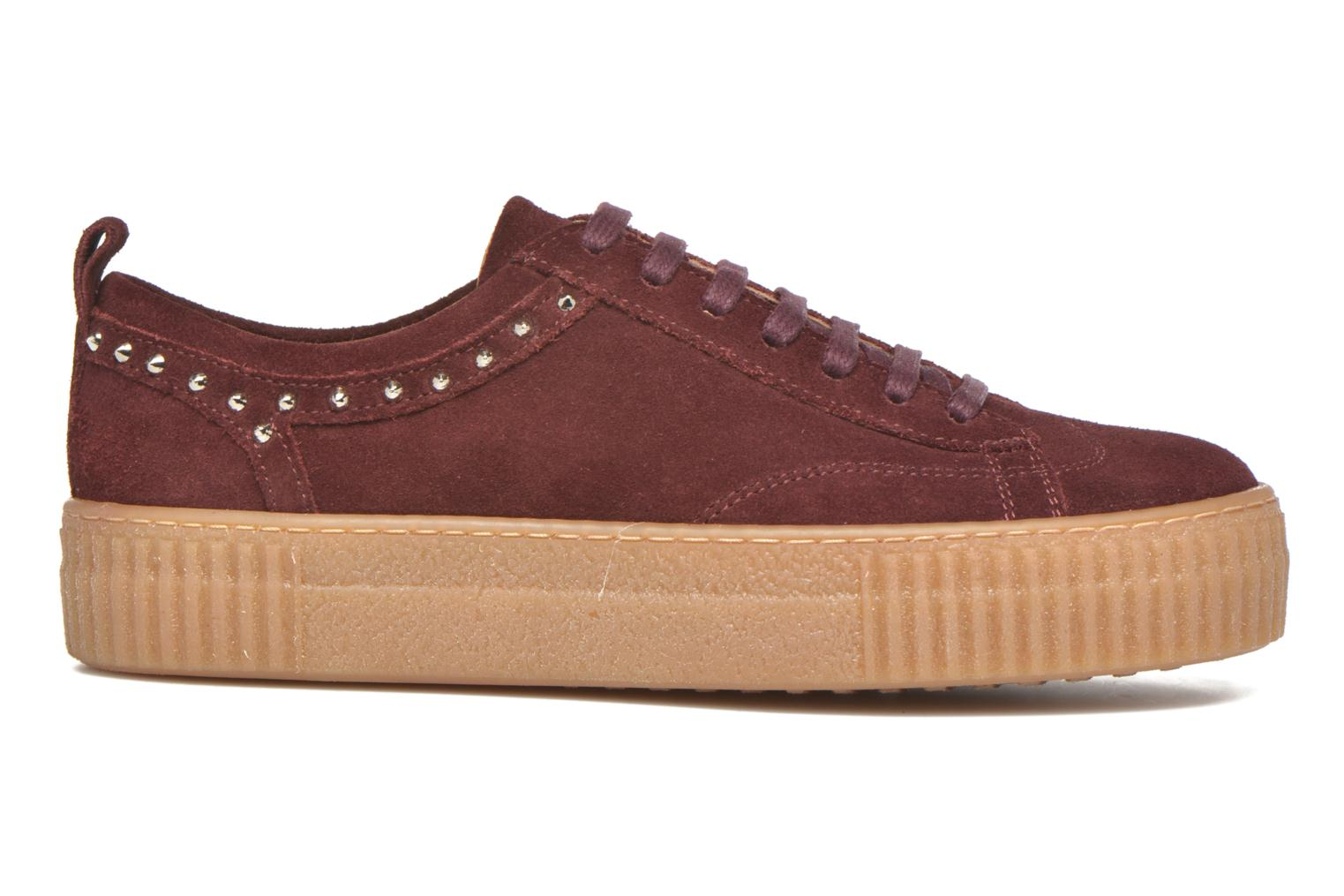 Trainers Bronx TraiX Suede Burgundy back view