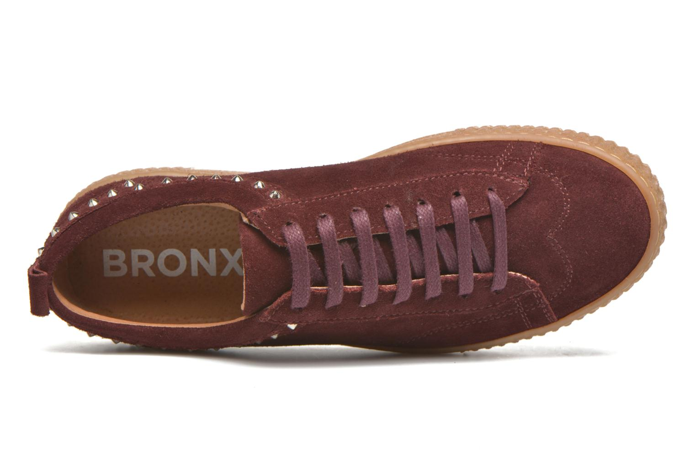 Sneakers Bronx TraiX Suede Bordò immagine sinistra