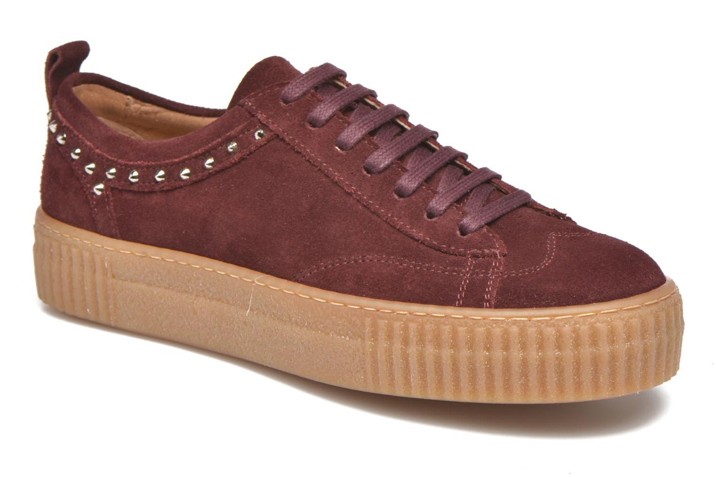 Sneakers Bronx TraiX Suede Bordeaux detail