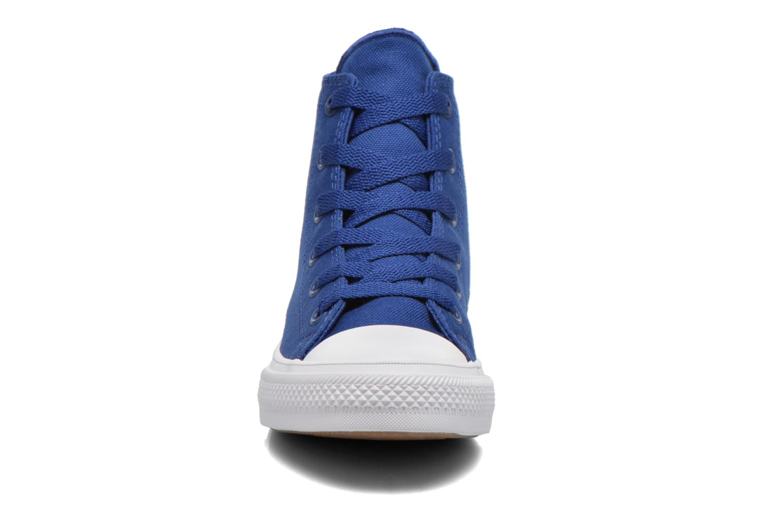 White White Navy Converse Chuck Taylor All Star II Hi (Blanc)