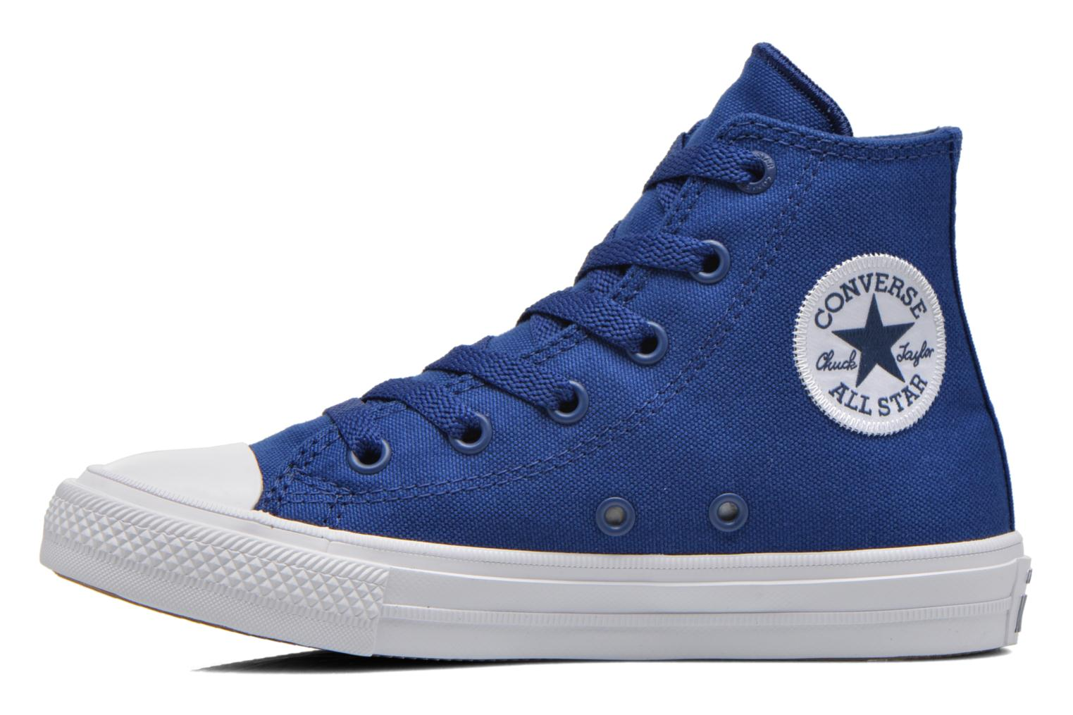 Baskets Converse Chuck Taylor All Star II Hi Bleu vue face
