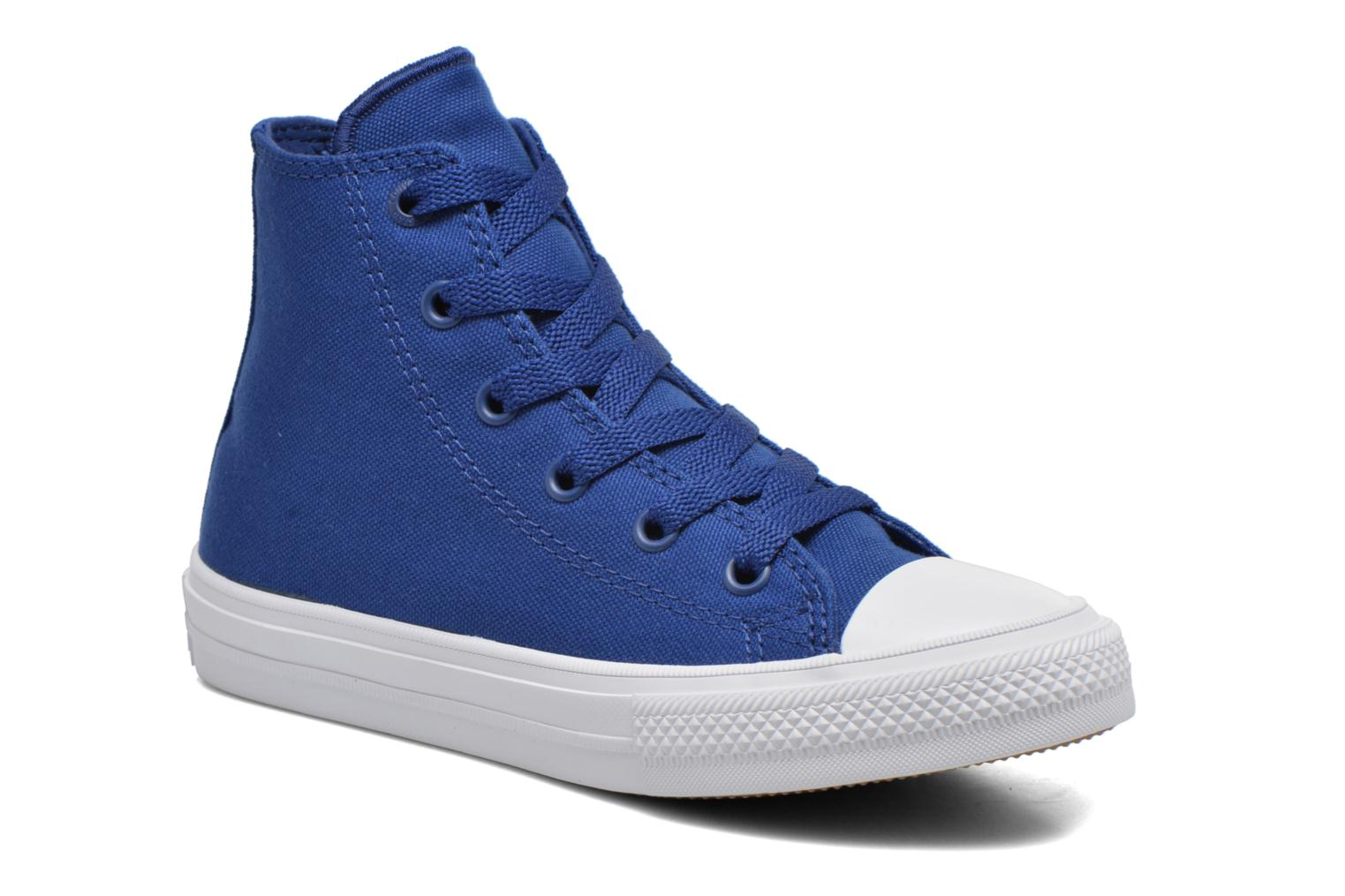 Baskets Converse Chuck Taylor All Star II Hi Bleu vue détail/paire