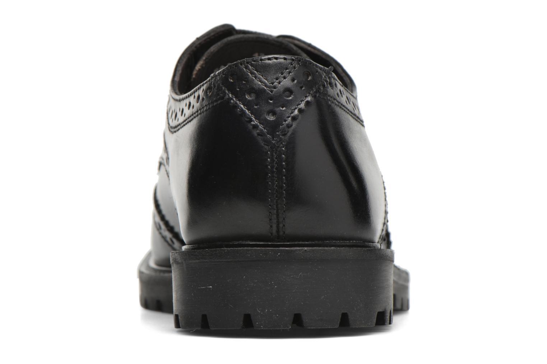 Zapatos con cordones Base London Trench Negro vista lateral derecha