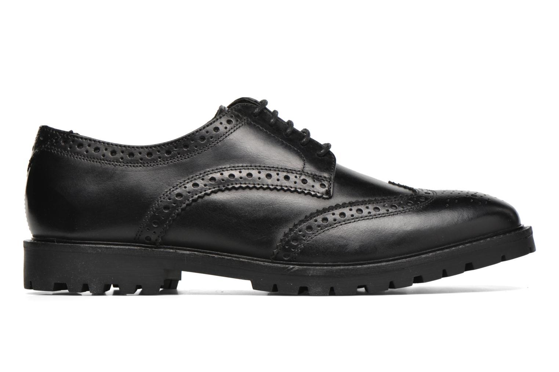 Zapatos con cordones Base London Trench Negro vistra trasera