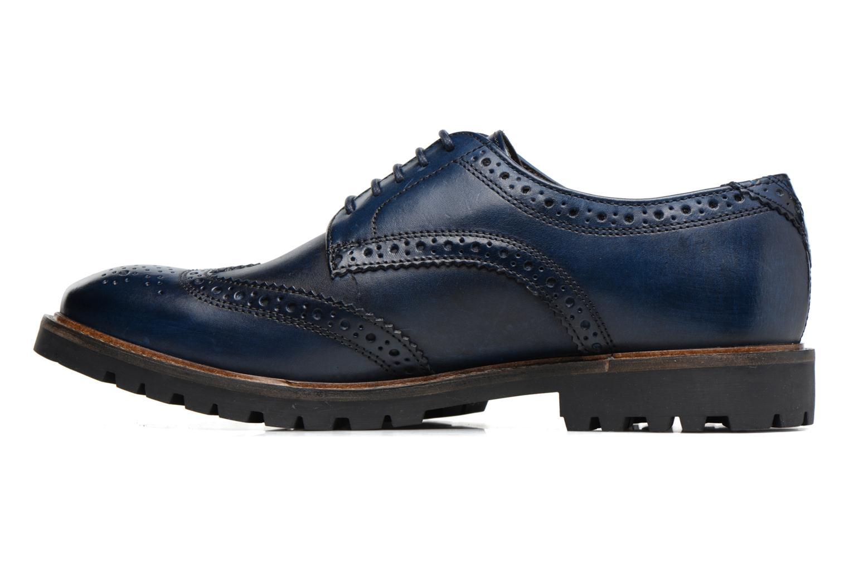 Chaussures à lacets Base London Trench Bleu vue face