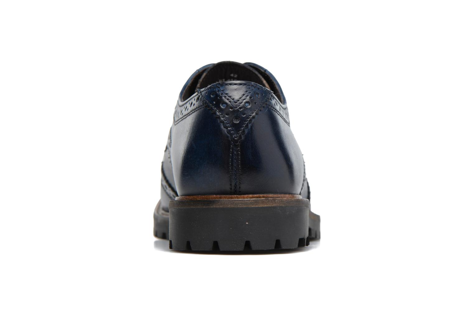 Lace-up shoes Base London Trench Blue view from the right