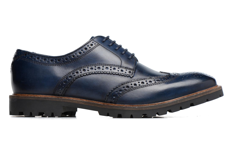 Chaussures à lacets Base London Trench Bleu vue derrière