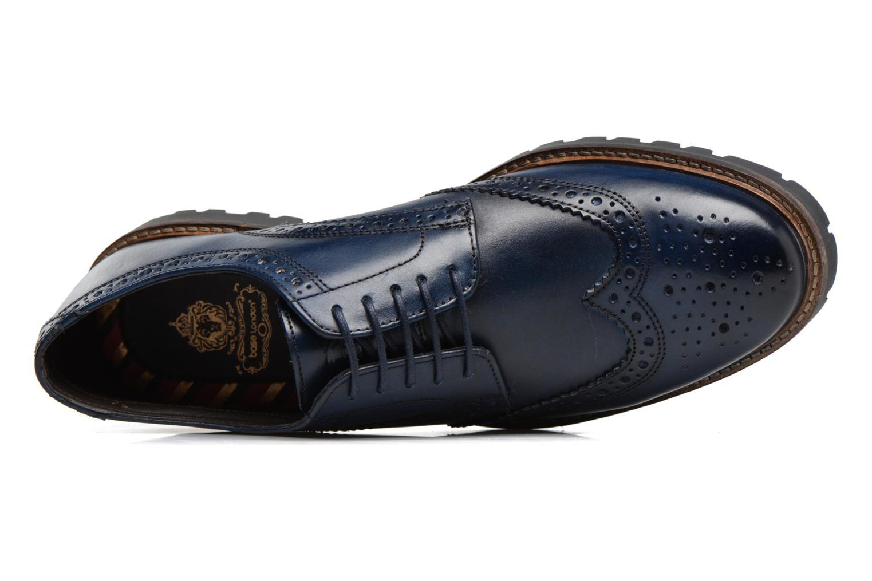 Chaussures à lacets Base London Trench Bleu vue gauche