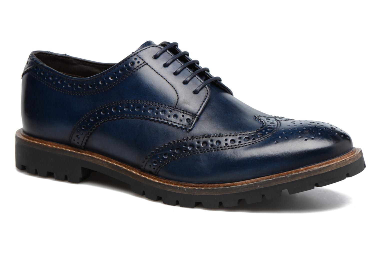 Chaussures à lacets Base London Trench Bleu vue détail/paire