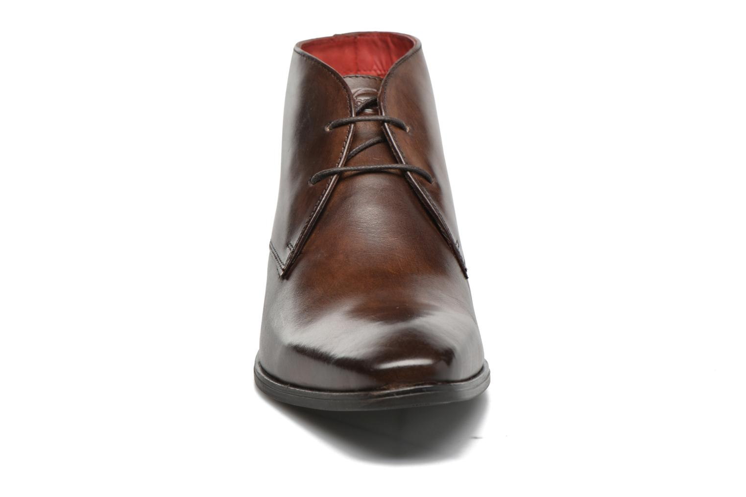 Lace-up shoes Base London Henry Brown model view