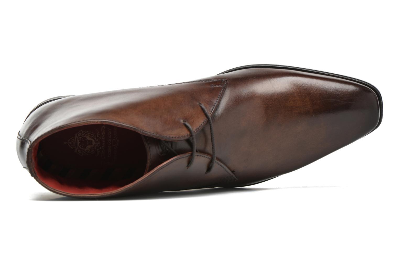 Zapatos con cordones Base London Henry Marrón vista lateral izquierda