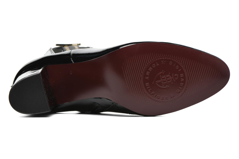 Bottines et boots Tommy Hilfiger GIGI ELESTIC BOOTIE Noir vue haut