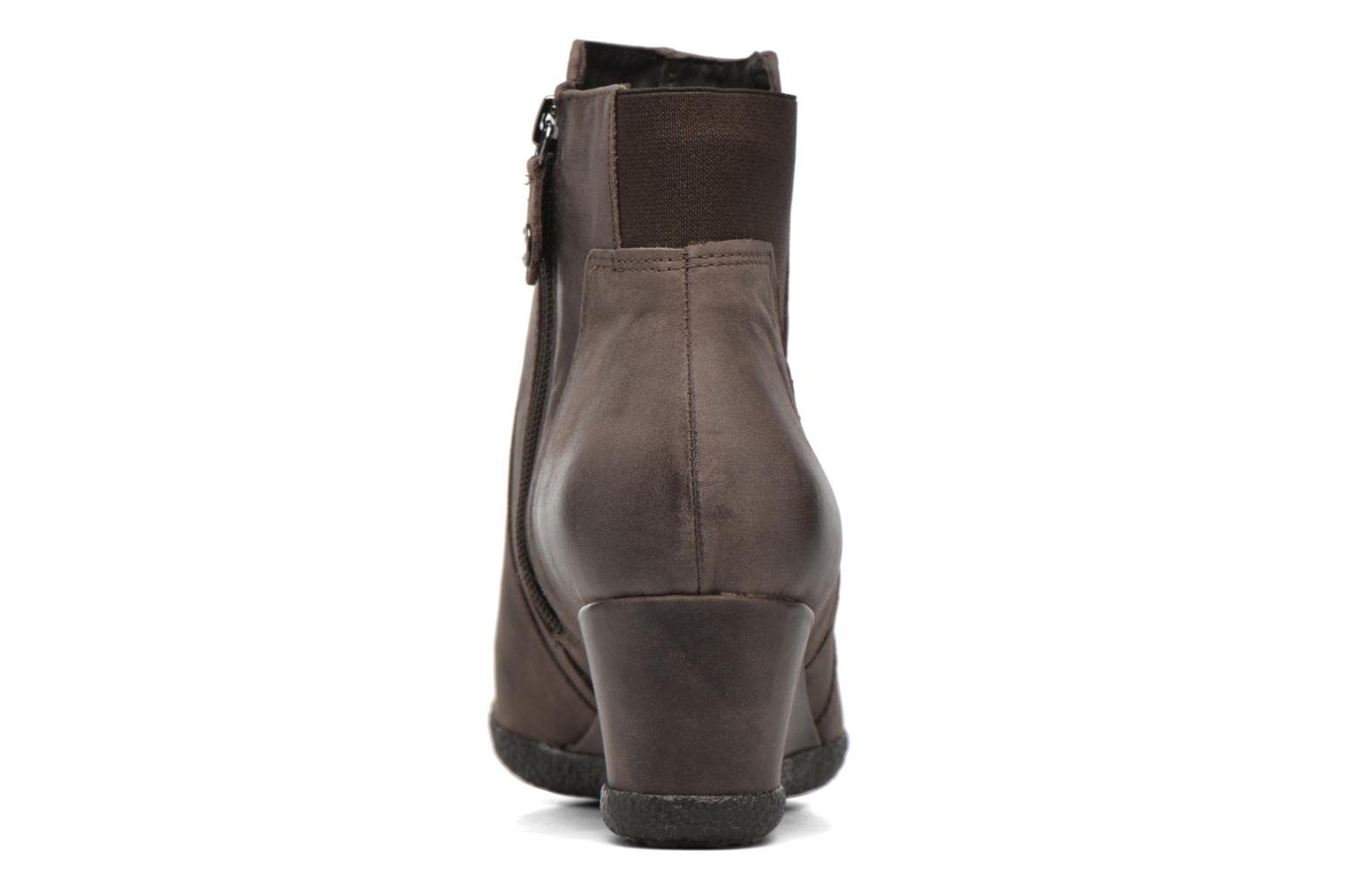Ankle boots Geox D AMELIA ST B D6479B Brown view from the right