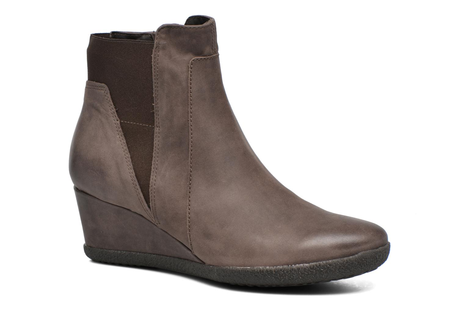 Ankle boots Geox D AMELIA ST B D6479B Brown detailed view/ Pair view